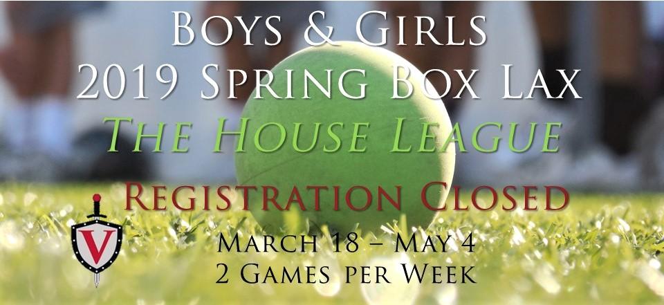 Spring House Box league registration closed