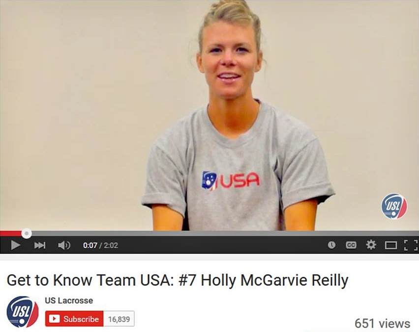 Holly McGarvie Reilly Team USA Interview