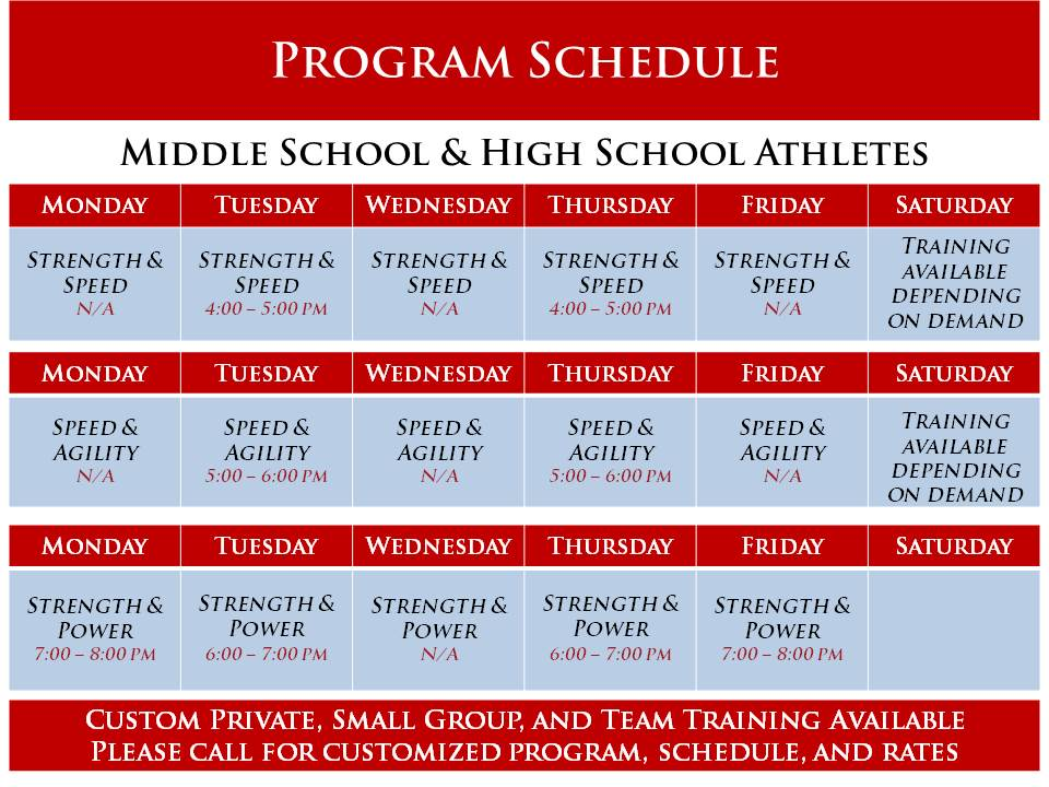 VSP Schedule as of 4-12-2018